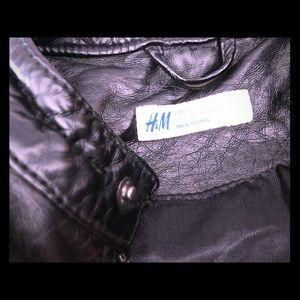 Faux leather boys jacket